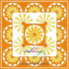 Inklingo Dresden Plate Quilt variation