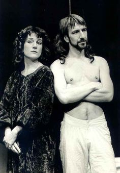 Alan Rickman, young and bare-chested in Mephisto