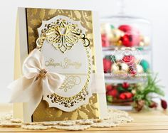 Christmas Card Making Ideas by Becca Feeken using Amazing Paper Grace Elegant Christmas Swirls