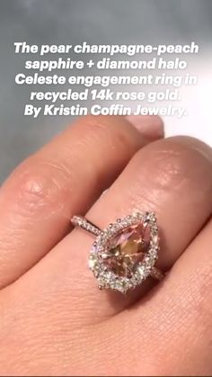Details about  /1.22 ct Pear Red Stone Classic Bridal Statement Designer Ring 14k Rose Gold
