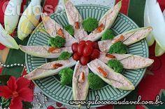 Endívias Recheadas com Creme de Salmão » Acompanhamentos, Peixes e Frutos do Mar, Receitas Saudáveis » Guloso e Saudável