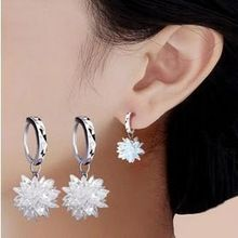 2016 New arrival hot sell snow flower design 925 sterling font b silver b font ladies