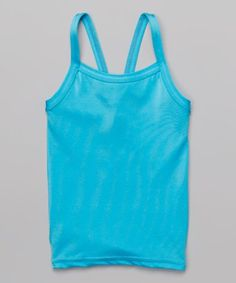 Look what I found on #zulily! Turquoise V-Back Tank - Toddler & Girls #zulilyfinds