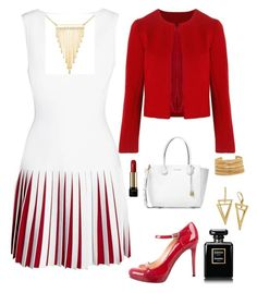 """""""Untitled #3"""" by amiekubat on Polyvore featuring Alaïa, Related, Michael Kors, Simone I. Smith, Elizabeth Cole, Lancôme, Chanel and Versace"""