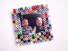 Hama bead photo frame. Make your own now!