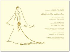 Thermography Bridal Shower Invitations: Wedding Stationery Wednesday | Wedding Paper Divas