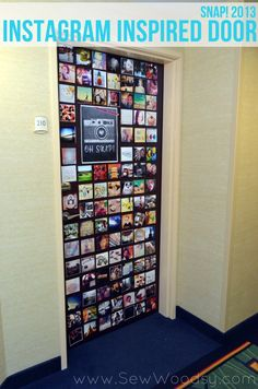 Cover an entire door with Instagram photos! Love this!