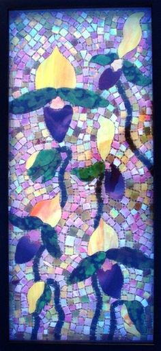 stained glass mosaic orchid