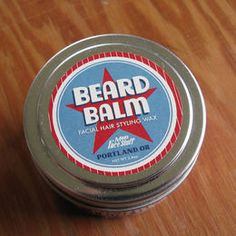 The daring mustache mavens of Man's Face Stuff have concocted Beard Balm, which features the hair holding/ softening combo of coconut oil & lanolin, plus the fresh scent of marjoram essential oil. #grooming #facialhair