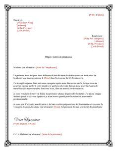 exemple_lettre_de_demission_pour_boulanger-page0001 Cv Curriculum, Swingers Clubs, Word Doc, Best Relationship, Resume, Letters, Voici, Business, Letter Sample