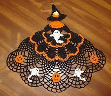 "free+crocheted+croniline+Halloween+lady+pattern | ... similar to ""Handmade Crocheted Glinda the Good Witch Crinoline Doily"