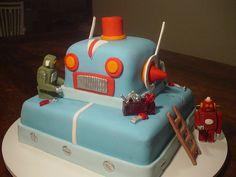 fondant robot cake