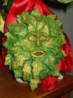 Salt Dough Greenman Plaque This page has so many awesome Pagan Salt Dough Projects!