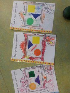 Maak je eigen meesterwerk met 3 plakkertjesvormen.