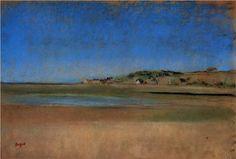 Houses by the Seaside - Edgar Degas