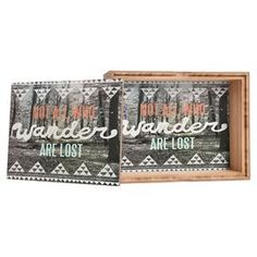 """Stow trinkets on your master suite vanity or keys in the entryway using this bamboo jewelry box, showcasing a forest scene motif and typographic accent.  Product: Jewelry boxConstruction Material: BambooColor: Gray and whiteFeatures:  Printed glossy lidCustom made for every orderDimensions: Small: 2.25"""" H x 4.5"""" W x 4.5"""" DLarge: 3"""" H x 9.5"""" W x 7.25"""" DCleaning and Care: Spot clean with window cleaner"""