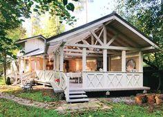 Летняя резиденция | Дома из клееного бруса | Журнал «Деревянные дома»