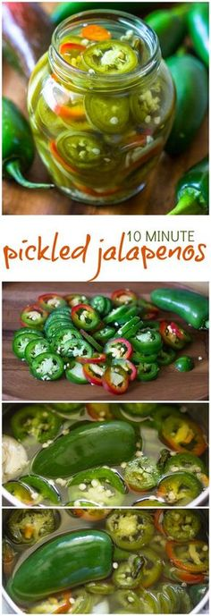 Quick Minute Pickled Jalapenos Gimme Delicious - Can You Believe These Crunchy Tangy And Sweet Pickled Jalapenos Are Ready In Under Minutes After Trying This Quick Pickled Jalapeno Recipe I Promise You Will Never Go Back To Jarred Jalapenos Pickled Jalapeno Recipe, Pickled Eggs, Pickled Veggies Recipe, Canning Jalapeno Peppers, Pickled Garlic, Pickled Carrots, Do It Yourself Food, Roh Vegan, Pickling Jalapenos