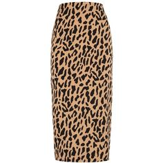 Diane Von Furstenberg Leopard-print Pencil Skirt - Size 14 ($250) ❤ liked on Polyvore featuring skirts, diane von furstenberg, calf length skirts, knee length pencil skirt, leopard print midi skirt and leopard skirt