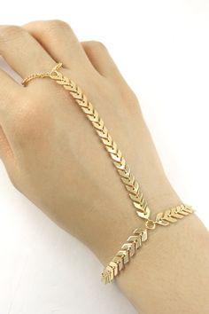Emma Arrow Shaped Hand Chain