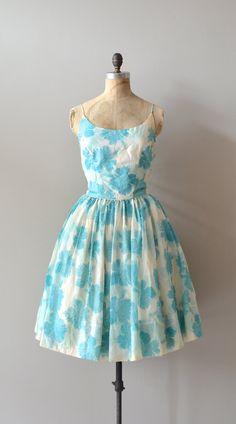 cotton 1950s dress / vintage 50s dress / Spun Mum dress