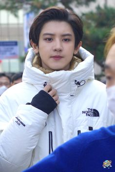 Tommy Boy, Kim Junmyeon, Exo Members, Chanbaek, Park Chanyeol, Colourful Outfits, Kyungsoo, Kpop Boy, The North Face