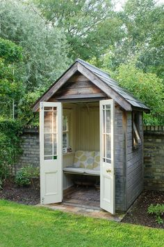Reading nooks - You can turn your backyard shed into a cozy lounge with a few quick fixes.