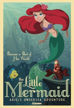'Ariel's Undersea Adventure' attraction poster - this one I want on my wall!