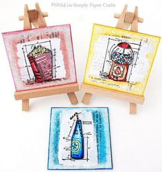 Simply Paper Crafts: Summer Fun Mixed Media Mini Canvas Board