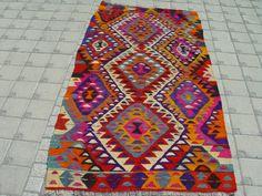 VINTAGE Turkish Kilim Rug Carpet Handwoven by TurkishCraftsArts.