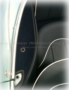BN4 (L) & BT7 - Rear Wheelarch Quarter Panel Area (Top) - Dark Blue - Leathercloth & Wool