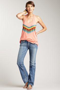 Big Star Denim  Sophie Mid Rise Slim Bootcut Jean