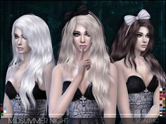 The Sims Resource: Midsummer Night hairstyle by Stealthic  - Sims 4 Hairs - http://sims4hairs.com/the-sims-resource-midsummer-night-hairstyle-by-stealthic/