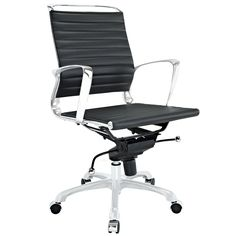 Tempo Mid Back Office Chair - Black
