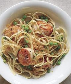 Linguine With Scallops and Brown Butter | Get the recipe for Linguine With Scallops and Brown Butter.