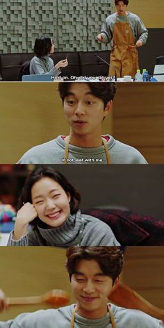 The calm before the storm😢 Korean Drama Funny, Korean Drama Quotes, Goblin The Lonely And Great God, Goblin Korean Drama, Live Action, Goblin Gong Yoo, Korean Actors, Korean Dramas, Yoo Gong