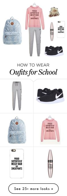 """""""school day"""" by lkr82203 on Polyvore featuring NIKE, Maybelline, Casetify and Billabong"""