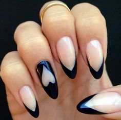 Heart black and nude