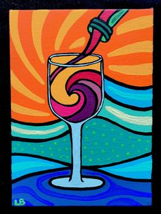 Waves and Wine by lesliebaylinson on Etsy