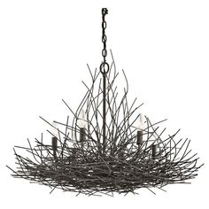 Buy the Kichler Olde Bronze Direct. Shop for the Kichler Olde Bronze Organique 1 Tier Chandelier with - Chain Included - 30 Inches Wide and save. Home Lighting, Outdoor Lighting, Lighting Ideas, Cottage Lighting, Lighting Online, Bedroom Lighting, Beach Lighting, Farmhouse Lighting, Rustic Lighting