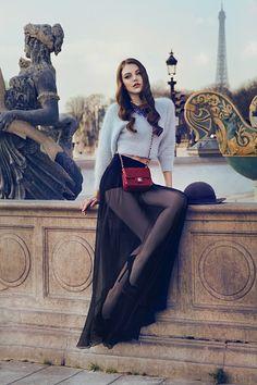 Sheer black skirt, love this