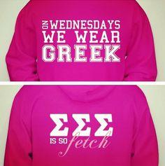 Go Greek on campus!
