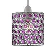 Purple Acrylic Beaded Pendant