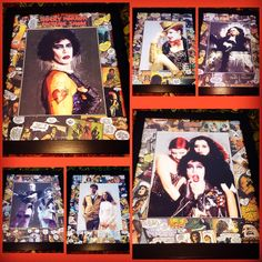 I found these awesome glossy art photos & was itching to create a set of pieces utilizing the for a matte. Uber excited on how they turned out! Magenta Rocky Horror, Rose City, Rocky Horror Picture Show, Custom Art, Comic Books Art, Uber, Photo Art, Giraffe, Nerdy