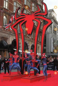 """Atmosphere at the London premiere of """"Spiderman 2"""" 4/10/14"""