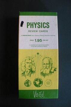 Physics Review Cards Vis-Ed Basic Principles of Physics Science Education Vtg