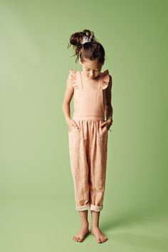 One and done. Peach sunsuit. #estella #kids #fashion