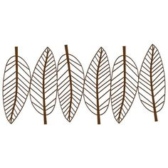 New View Metal Leaves Wall Decor ($27) ❤ liked on Polyvore featuring home, home decor, wall art, fillers, decor, backgrounds, brown oth, leaf wall art, metal home decor and brown wall art
