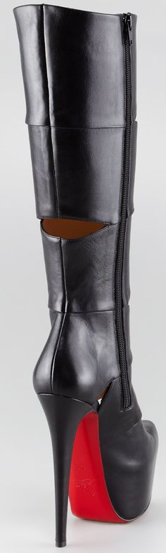 Knee High Leather Louboutin Boots   The House of Beccaria#