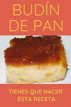 Budín de pan Boricua Recipes, Mexican Food Recipes, Sweet Recipes, Cake Recipes, Dessert Recipes, Pudding Recipes, Guatemalan Desserts, Cuban Bread, Delicious Desserts